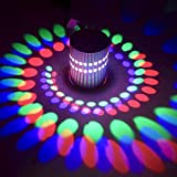 #10: Smartway - Multi Colour- 3W Spiral Led Wall lamp Diwali Decorative Light with 24 Key RGB Remote with ON & Off and Brightness Control Feature, for Home, Rooms, Bars, Hotels,Restaurant,Clubs Etc.