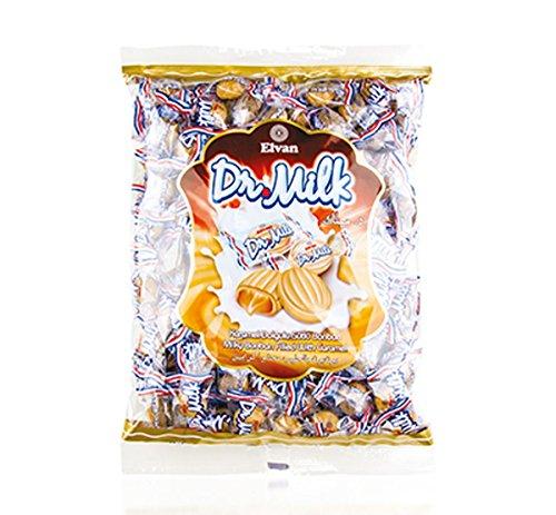 Preisvergleich Produktbild Milchbonbon Dr. Milk 1kg,  gefüllte Bonbons Karamellgeschmack Großpackung