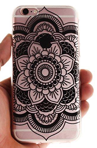Nnopbeclik [Coque Iphone 6 Silicone / Coque Iphone 6S Apple ] Transparente élégant Style de Impression Couleur Motif Doux Backcover Case Housse pour Iphone 6 Coque Apple / Iphone 6S Coque Silicone (4. mandala2