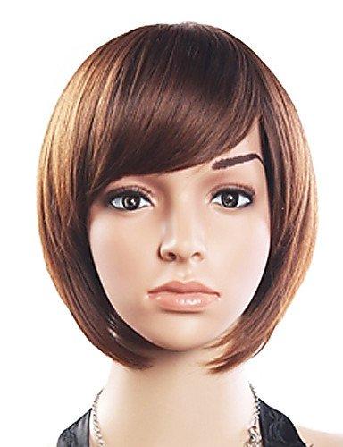 JIAFA BBDM 20% DE Cheveux Humains 80% synthétique résistant à la Chaleur Fibre Side Cheveux Bang Perruque Courte