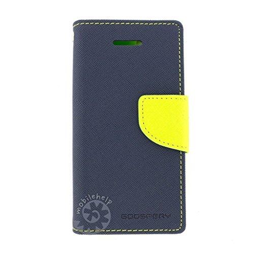 "Tingtong Mercury Goospery Diary Flip Cover for Samsung Galaxy J2 2015 J200G 4.7"" - (Blue)"