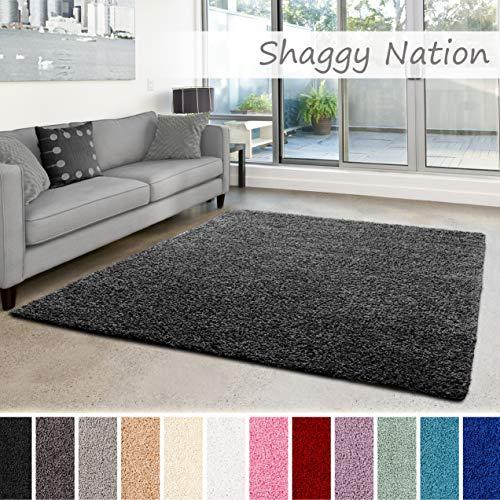 Shaggy Nation Alfombra Peluda | Pila Alta esponjosa para Sala de Estar
