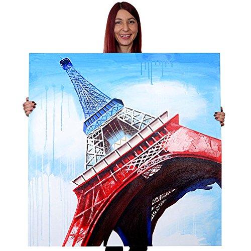dipinto-a-mano-murale-3d-pittura-ad-olio-su-tela-100x100cm-eiffel-tricolore