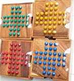 Logica Puzzles art. SOLITAIRE - Wooden Board game - 2 difficulties