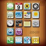 iPhone iPod iPad Apps Magnete Frigorifero Lavagna Memo Magneti Set Frigo per Fan Apple