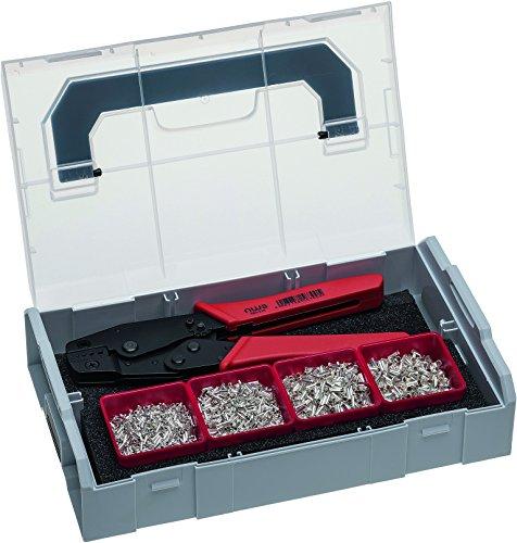 NWS 338-20 Crimp-Hebelzange und Aderendhülsen-Sortiment in Sortimo L-BOXX Mini