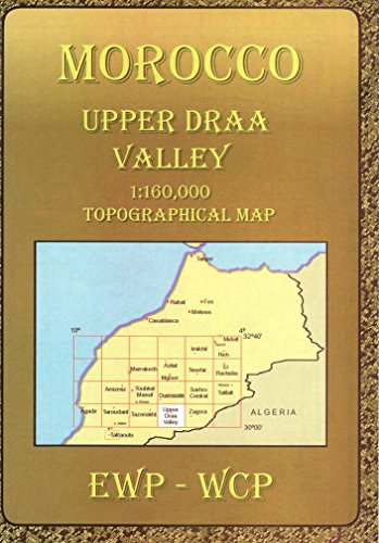 Atlas Mountains Morocco Maps: Upper Draa Valley: Topographical Map