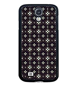 Fuson Premium 2D Back Case Cover Floral Pattern With Black Background Degined For Samsung Galaxy S4 Mini::Samsung Galaxy S4 Mini i9190