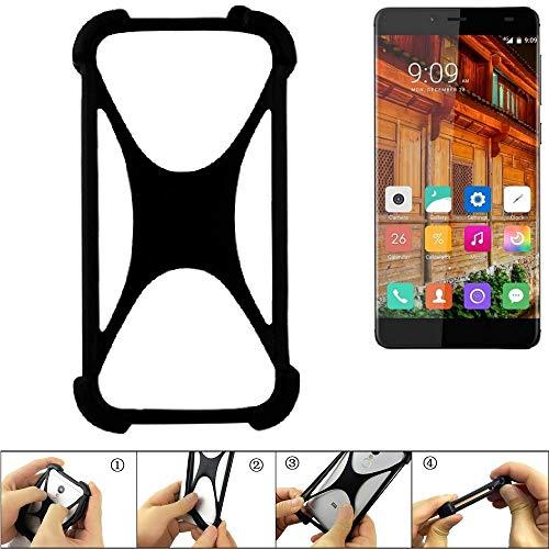 K-S-Trade Handyhülle für Elephone S3 Lite Schutz Hülle Silikon Bumper Cover Case Silikoncase TPU Softcase Schutzhülle Smartphone Stoßschutz, schwarz (1x)