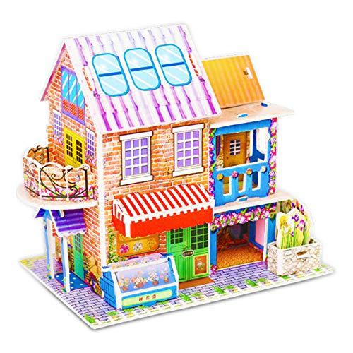 Mitlfuny 3D Kinder Dekoration DIY Weihnachten Papierbrett Puzzle FrüHen Lernen Bau Montieren Weihnachten Ornamente Xmas Home ()