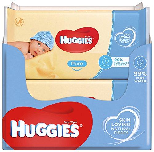 Huggies - salviettine pure per bambini, 10 confezioni da 64 pezzi