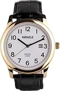 Kienzle - Klassisch V71091339060 - Montre Homme - Quartz - Analogique - Bracelet Cuir Noir