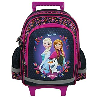 """Frozen, Mochila con ruedas, trolley para el colegio de Anna, Elsa y Olaf, """"La reina de las nieves"""""""