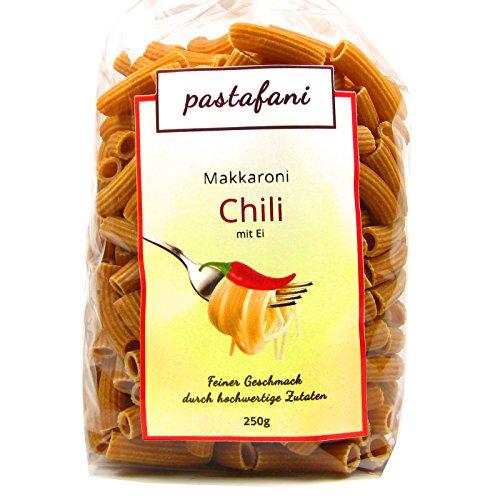 aroni 250g - Leckere scharfe Chili-Nudeln für Feinschmecker mit feurigem Geschmack. Chili-Pasta mit ausschließlich natürlichen, qualitativ hochwertigen Zutaten ohne Aroma- oder Zusatzstoffe, Teigwaren mit Ei, vegetarisch (Spaß-halloween-kochen Ideen)