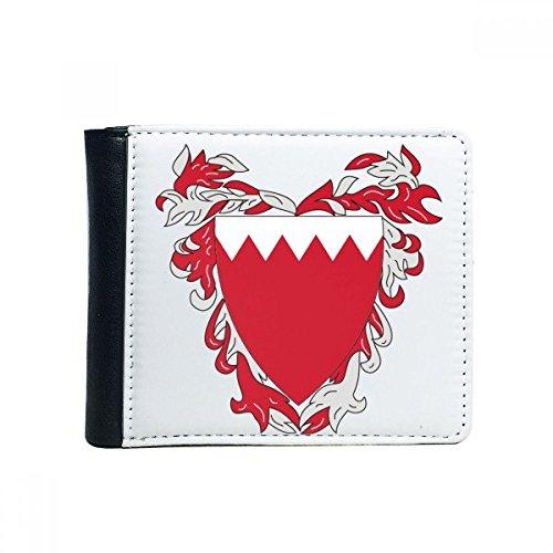 DIYthinker Flip Manama Bahrain National Emblem Bifold-Leder-Mappen-Multifunktions-Karten-Geldbeutel-Geschenk Einheitgrosse Mehrfarbig - Bahrain Karte Von