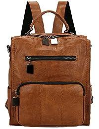 ab2f95e9290e Mynos Women Backpack Purse Leather Handbag Ladies Rucksack Crossbody  Shoulder Bag