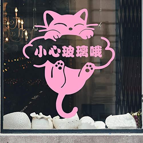 Glas Fenster Shop Shop Warme Tipps Persönlichkeit Kreative Glas Anti-Kollisions-Logo Dekorative Aufkleber ()