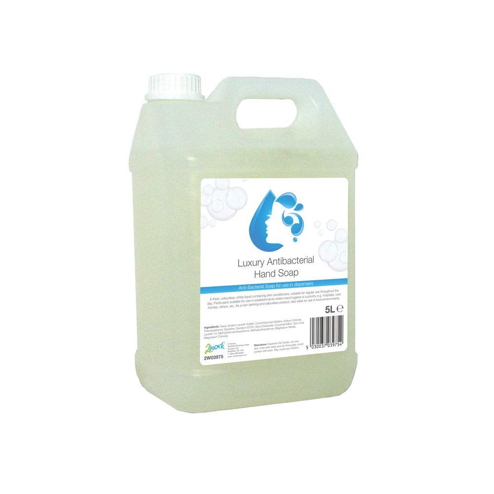 2WORK 2W03975 5 L Anti-Bacterial Hand Wash,Multicolor, Pack of 1