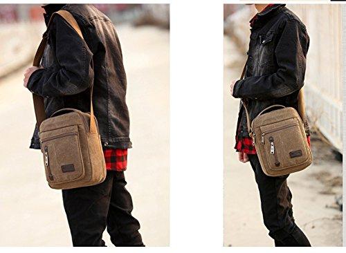 FakeFace Borsa Messenger, Style C: Khaki (marrone) - BAK-0FB129 Style C: Khaki