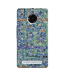 """NH10 DESIGNS 3D PRINTING DESIGNER HARD SHELL POLYCARBONATE """"PATTERN"""" PRINTED SHOCK PROOF WATER RESISTANT SLIM BACK COVER MATT FINISH FOR MICROMAX YUPHORIA"""