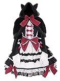 JL-657 Cape & langarm Kleid Schleife Set Rot schwarz Kostüm Gothic Lolita dress Cosplay Kawaii-Story (M)
