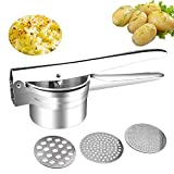 Potato Ricer - Multifunctional Professional Stainless Steel Ricer Masher Heavy Duty Food Press