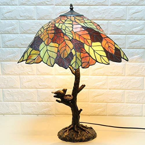 Tiffany Tischlampe,Kreative Blätter Glasmalereien für Schlafzimmer, Wohnzimmer, Dekoration Schreibtischlampe GYLTF-059 -