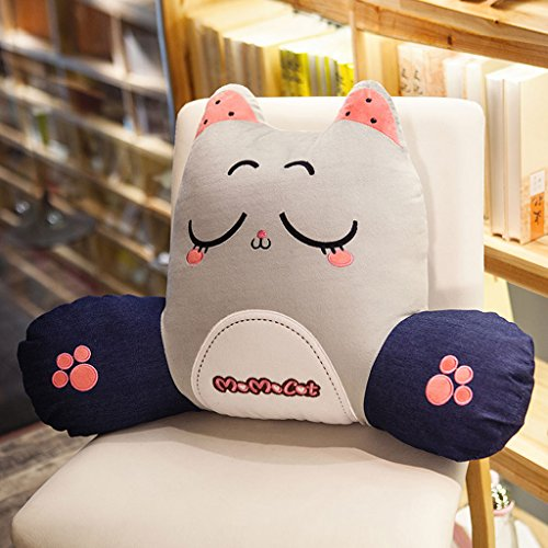 CHENGYI Nette Kitty Student Stuhl Kissen Taille Kissen Büro Halten Kissen Kreative Cartoon Mode Kissen Zurück Pad (Design : C, Size : 65 * 45cm)