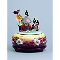 KWO Beetle Musician Music Box, Multi-Colour, Small/15 cm