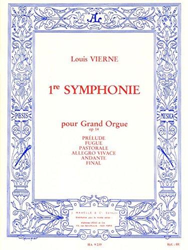 LOUIS VIERNE: SYMPHONIE NO 1  OP 14 (ORGAN)  PARTITIONS POUR ORGUE