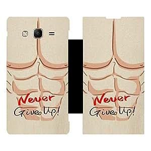 Skintice Designer Flip Cover with Vinyl wrap-around for Samsung Tizen Z3 , Design - Never Give up