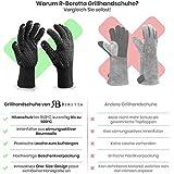 R-Beretta Grillhandschuhe in Geschenk Box - Hitzebeständig Bis Zu 500 °C – Hitzeschutzhandschuhe Für Grill - Feuerfeste Kaminhandschuhe Mit Extra Langem Unterarmschutz - Ofenhandschuhe - 3