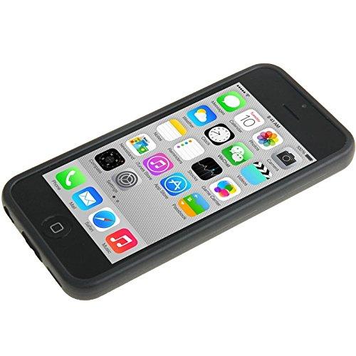 Wkae Case Cover Transparente Plastik + TPU Rahmen für das iPhone 5C ( Color : Blue ) Black