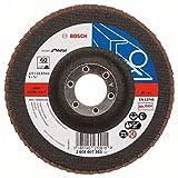 Bosch Professional Fächerschleifscheibe (für Winkelschleifer verschiedene Materialien, gerade Ausführung, Ø 125 mm, Körnung 40)