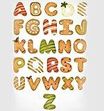 Styde Fraises à Biscuits 3D Fraises à Biscuits Mini Alphabet Ensemble de 26 pièces en Acier Inoxydable pour moules à Biscuits Outils pour Biscuits, gâteaux, Fruits, légumes et Coupes à Fondant.