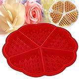 fengge molde de fondant AU Pastel en los gofres con 5mini tartas frambuesas (rojo)