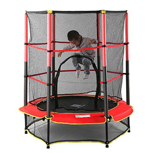 """HJJGRASS Indoor Trampolin Kinder Jumping Mini Bouncer Net Trampolinzubehör/Indoor Bounce Bett/Kombination Mini-Kindertrampolin, 55\"""" Gürtel Mesh-Brace Trampolinschutz"""