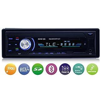 Autoradio-mit-Bluetooth-Freisprecheinrichtung-Single-Din-Universal-Autoradio-AMFMUSBTF-MP3-Media-Player-Drahtlose-Fernbedienung-enthalten