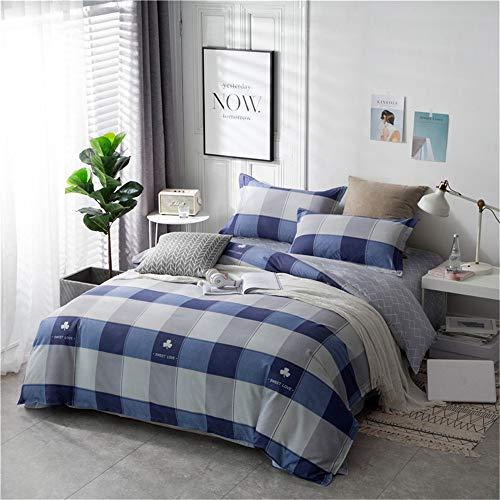 YUNSW Einfache Bettbezug Polyester Gedruckt Wohnkultur Bettbezug Doppel Königin König Bett Stoff D 180x220 cm -