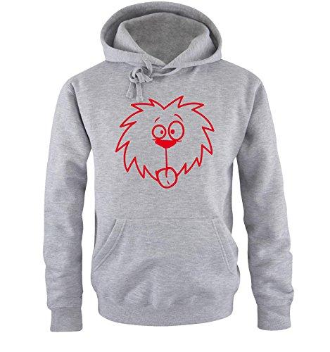 Comedy Shirts - COMIC DOG - Uomo Hoodie cappuccio sweater - taglia S-XXL different colors grigio / rosso