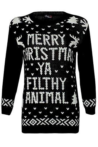 Celeb Look Sam Fantini Home Alone Merry Christmas Ya Filthy Animal Maglioncino Natalizio Nero