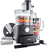 VonShef 1000W Food Processor - Blender, Chopper, Multi Mixer Machine with Dough Blade, Shredder & Grater - Includes Accessory Drawer