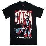 T-Shirt - Johnny Cash - Nashville Poster XXL Black