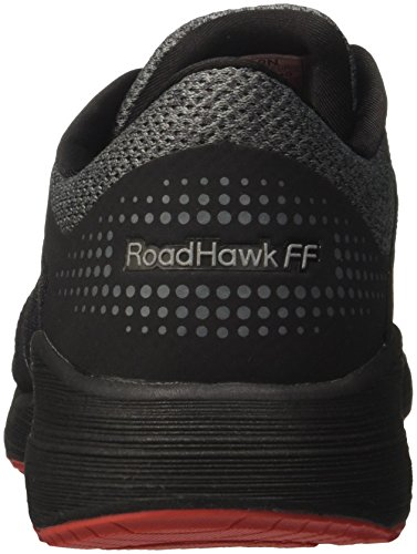 Asics Herren Roadhawk FF Laufschuhe Schwarz (Blackcarbonclassic Red 9097)