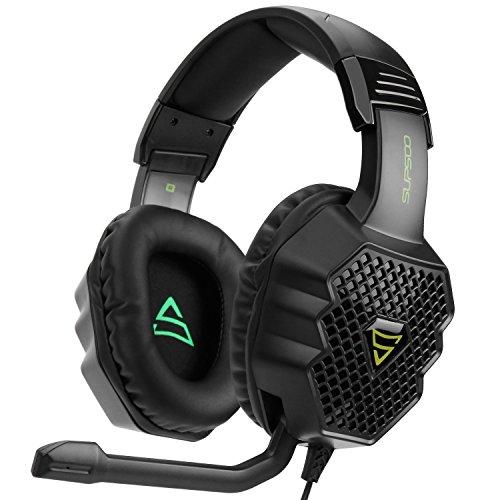 [2017 Supsoo G811 Multi-Platform Nuevo Xbox un PS4 Auriculares para juegos ] 3.5 mm Auriculares con auriculares con auriculares con micrófono, Depp Bass, cancelación de ruido auriculares para PS4 Nuevo Xbox uno PC Laptop Mac iPad