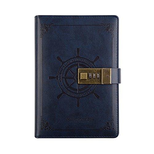 toim Retro Business Notebook mit einem Passwort Lock Kodiert Lock für Diary Handbuch Notizblock...