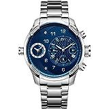 JBW G3 Reloj DE Hombre Diamante Cuarzo Suizo 46MM Correa DE Acero J6344C