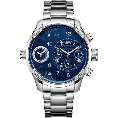 JBW Men's G3 Diamond 46MM Steel Bracelet & CASE Swiss Quartz Watch J6344C