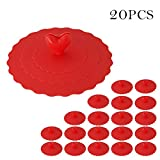 20Pcs Silicone Cup Lids AntiDust Mug Cover Foodgrade Silicone Drink Covers Suction Lids Samber Red - Samber - amazon.co.uk