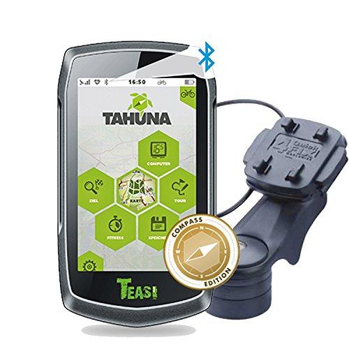TEASI ONE 3 eXtend - Fahrrad- & Wandernavigation + Fahrradhalter Vorbaumontage+ USB Netzteil